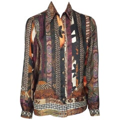 Etro Multi Print Long sleeve Top with Buttons - 44