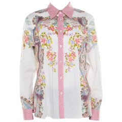 Etro Multicolor Floral and Paisley Printed Long Sleeve Shirt L
