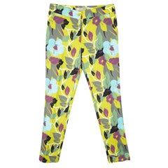 Etro Multicolor Floral Printed Cotton Trousers S