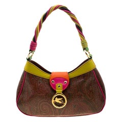Etro Multicolor Paisley Print Coated Canvas and Leather Shoulder Bag
