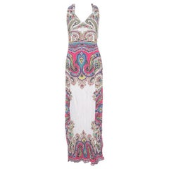 Etro Multicolor Paisley Print Crepe Maxi Dress L