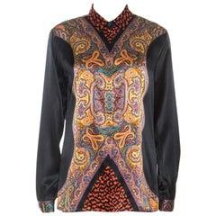 Etro Multicolor Paisley Print Silk Button Front Shirt M