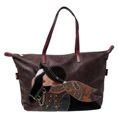Etro Multicolor Paisley Printed Coated Canvas and Leather Embroidered Tote