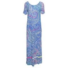 Etro Multicolor Paisley Printed Jersey Maxi Dress M