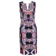 Etro Multicolor Paisley Printed Sleeveless Midi Dress S