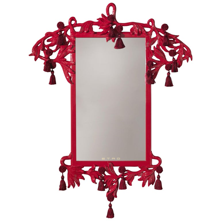 Etro Nymph Natural Mirror in Red For Sale