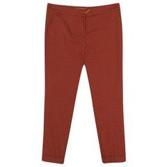 Etro Orange Patterned Jacquard Tailored Trousers L