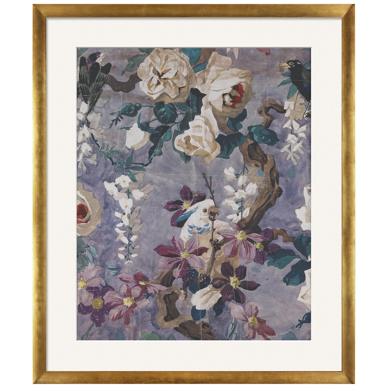 Etro Home Interiors Papier Lilac Print with Frame