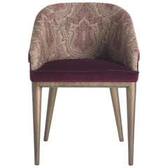 Etro Picabia Chair in Scarlet Paisley and Wood