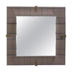 Etro Renè Mirror in Wood, Fabric and Glass