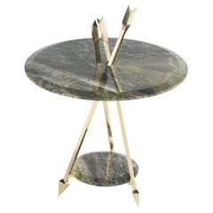 Etro Home Interiors Sagitta Small Table in Marble and Brass
