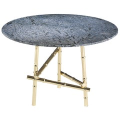 Etro Home Interiors Samarcanda Small Table in Marble and Brass