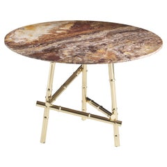 Etro Samarcanda Small Table in Marble and Brass