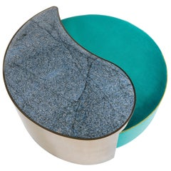 Etro Sharp Pouf in Velvet and Metal