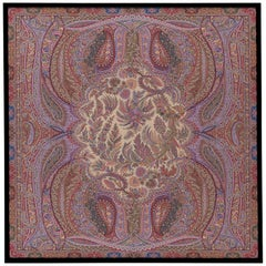 "Etro Home Interiors Shawl ""E"" Print on Canvas with Frame in Wood"