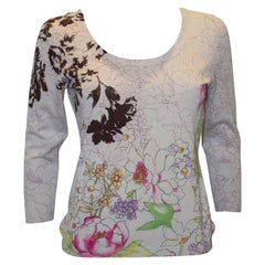 Etro Silk Knit Floral Top