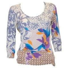 Etro Silk Knitted Floral Top