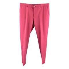 ETRO Size 38 Muted Pink Solid Cotton Blend Pique Zip Fly Casual Pants
