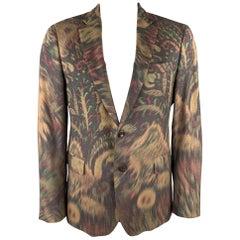 ETRO Size 42 Beige Abstract Paisley Wool Blend Notch Lapel Sport Coat