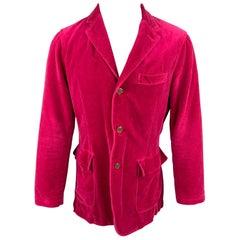 ETRO Size M Fuchsia Cotton Velvet Notch Lapel Sport Coat