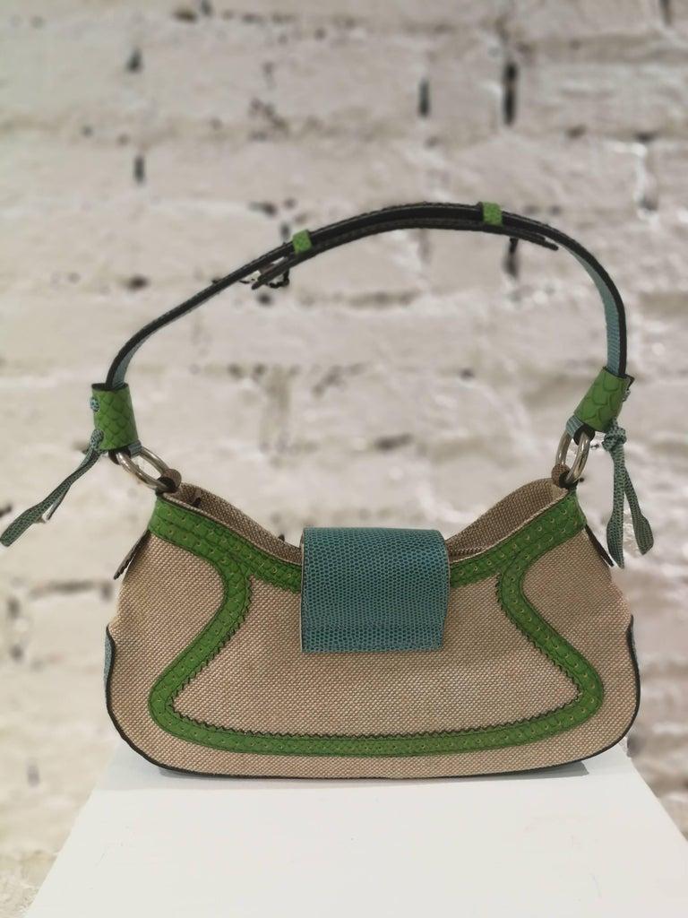 Gray Etro SS16 Multicolour Shoulder Bag NWOT For Sale