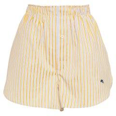 Etro Striped Cotton-Poplin Shorts