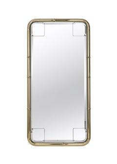 Etro Tall Delfi Mirror in Polished Brass