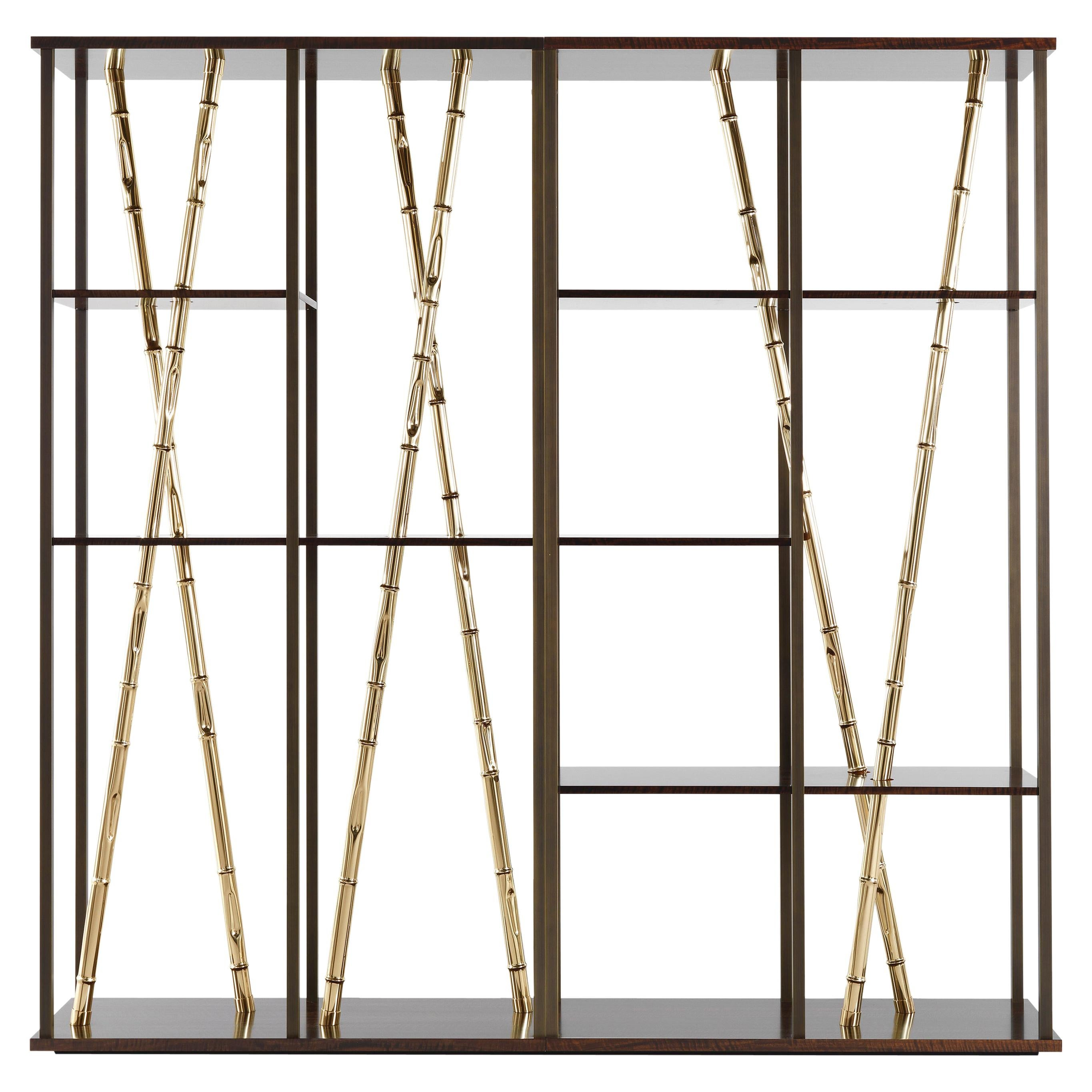 Etro Home Interiors Taxila Bookcase in Wood and Metal