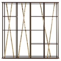 Etro Taxila Bookcase in Wood and Metal