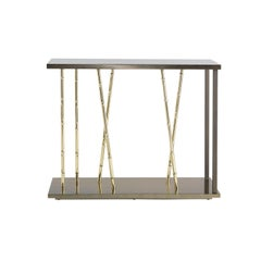 Etro Taxila Console in Bronze Metal and Lacquer Wood
