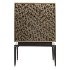 Etro Tibesti Cabinet in Wood and Polished Brass