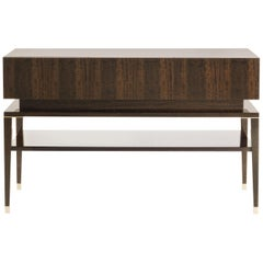 Etro Home Interiors Tibesti Console Table in Wood and Polished Brass