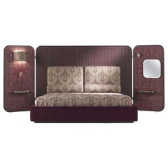 Etro Timgad Bed in Wood and Paisley Print