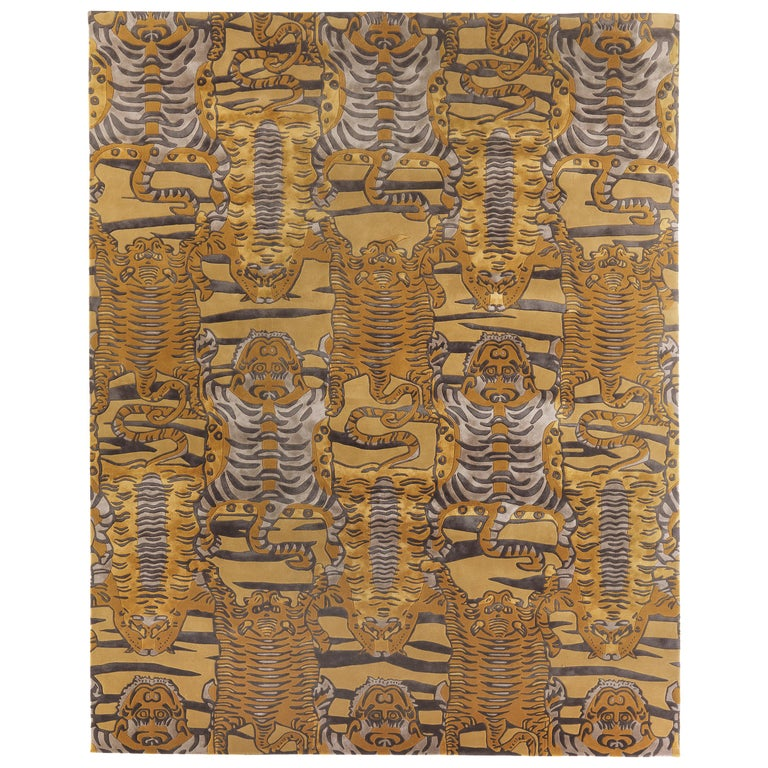 Etro Tingri Rug in Ochre Color For Sale