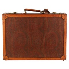 Etro Vintage Paisley Attache Hard Sided Bag