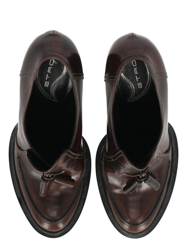 Women's Etro Women  Pumps Brown Leather IT 39 For Sale