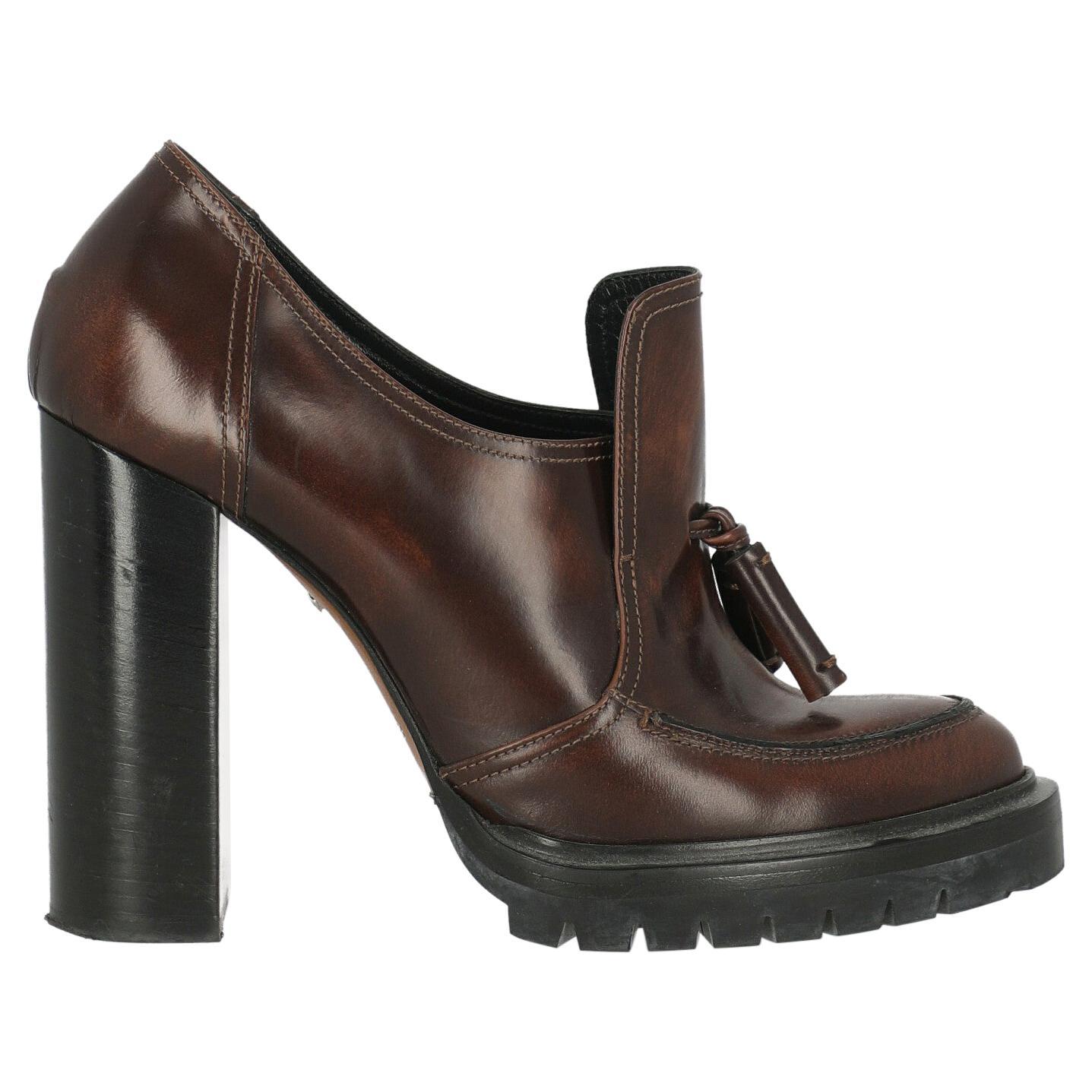 Etro Women  Pumps Brown Leather IT 39