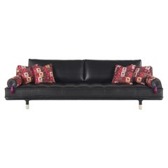Etro Home Interiors Woodstock 4-Seater Sofa in Leather