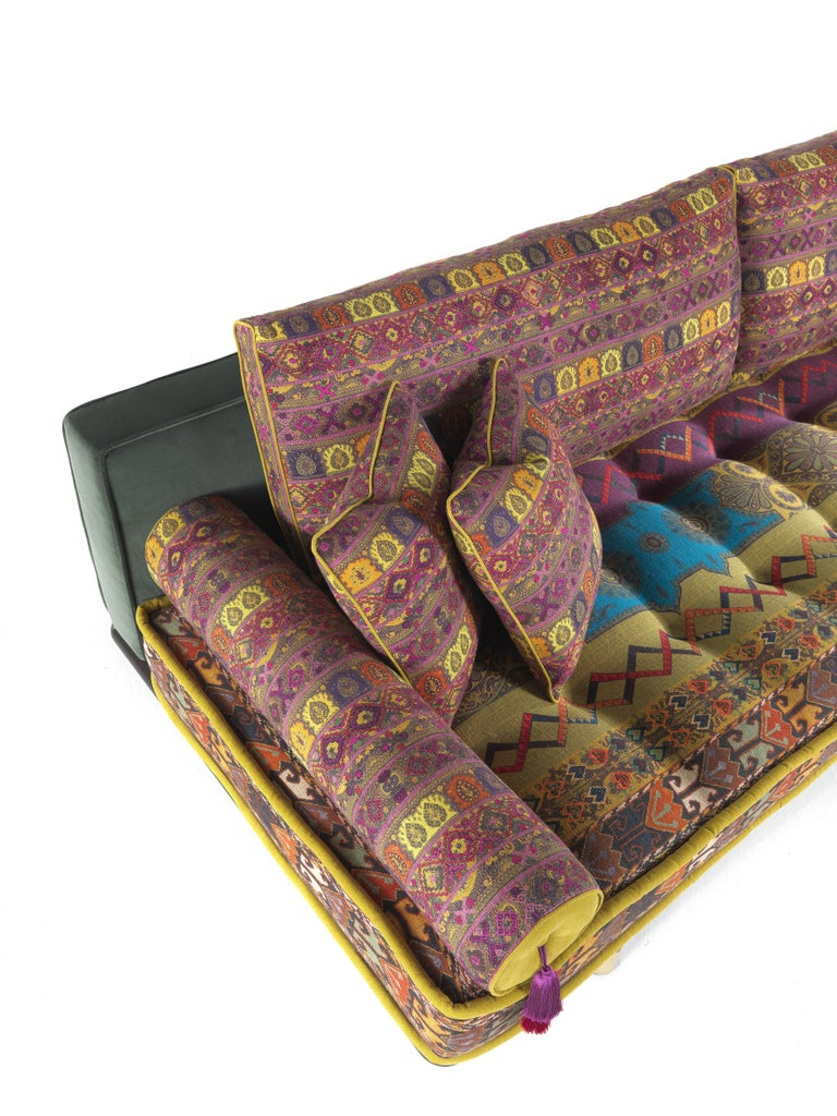 Etro Woodstock Carnival 4-Seat Sofa in Fabric and Wood For Sale 2