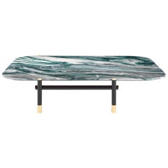 Etro Woodstock Central Table in Wood and Marble