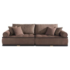Etro Home Interiors Woodstock.2 Modular Sofa in Leather and Fabric
