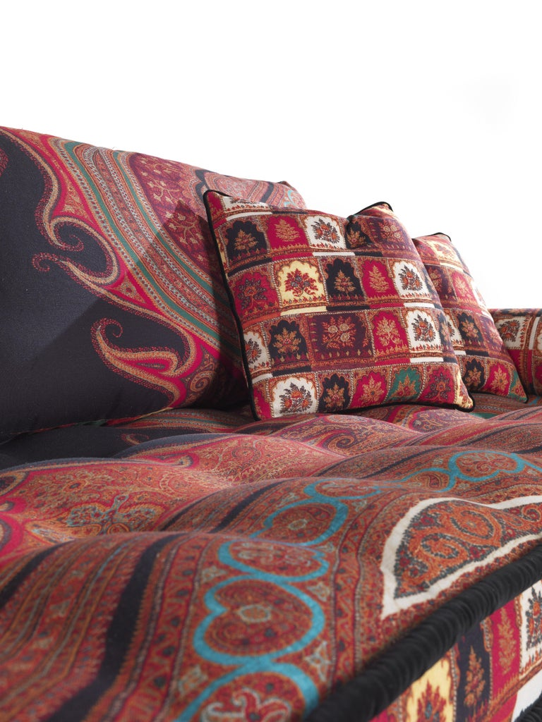 Etro Woodstock Mountain 4-Seat Sofa in Velvet and Wood For Sale 3