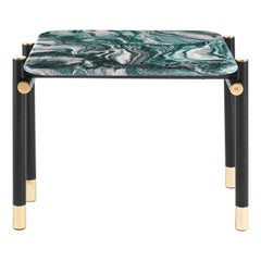 Etro Home Interiors Woodstock Small Table in Marble and Wood