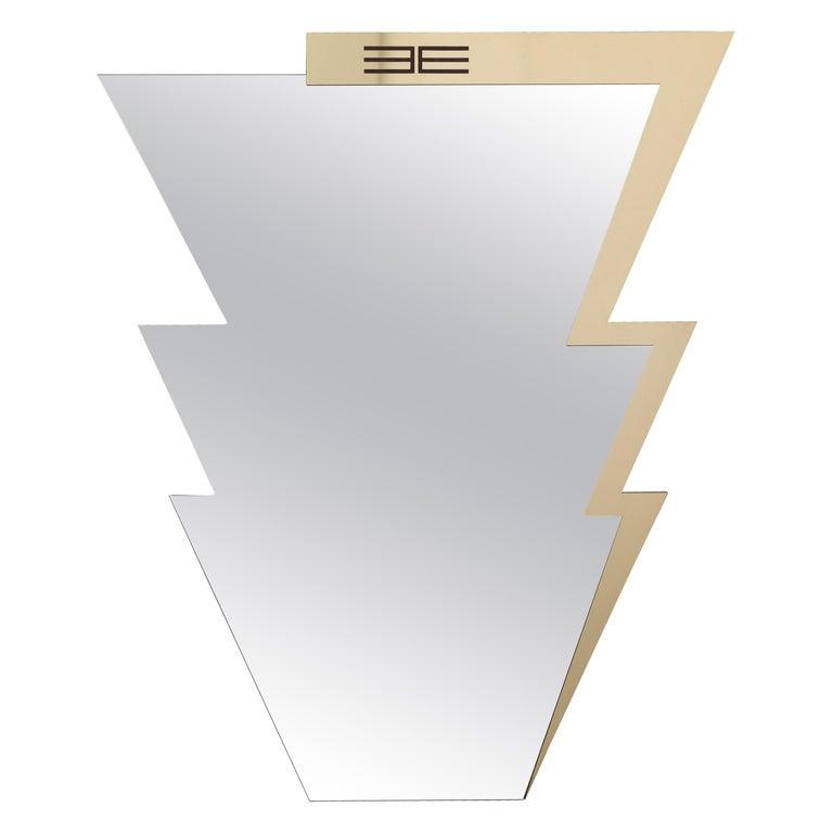 Etro Ziggy Mirror in Polished Brass For Sale