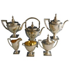 Etruscan by Gorham Sterling Silver 6-Piece Tea Set '#2186' Vintage with Kettle