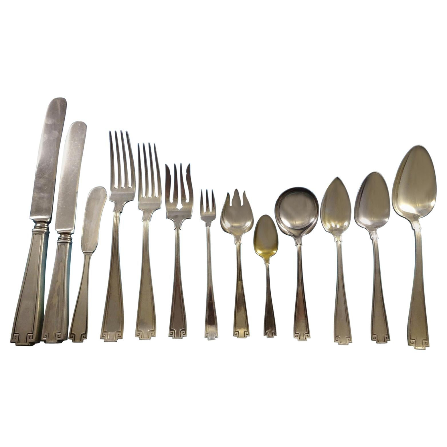 Etruscan by Gorham Sterling Silver Flatware Set of 12 Service Fitted Chest 198pc