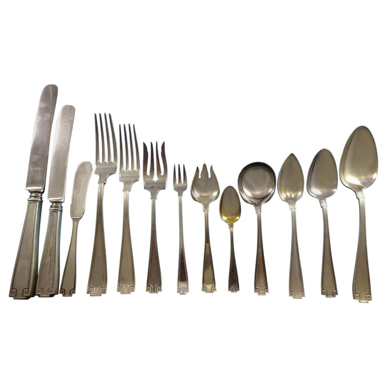 Etruscan by Gorham Sterling Silver Flatware Set of 12 Service Fitted Chest 198pc For Sale