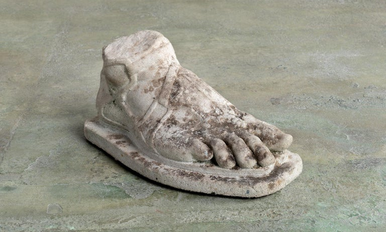 Etruscan stone fragment, America, 19th century