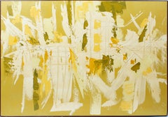 Vintage American Mid Century Modern Abstract California Oil Painting, Etta Cien