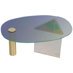 Ettore Blue Coffee Table by Asa Jungnelius
